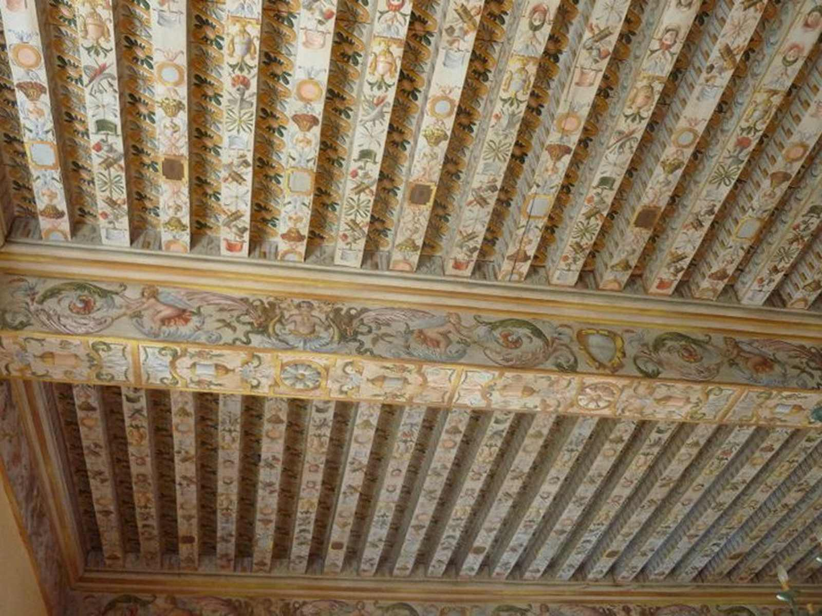 le plafond de la salle des Maréchaux - château d'Audaux