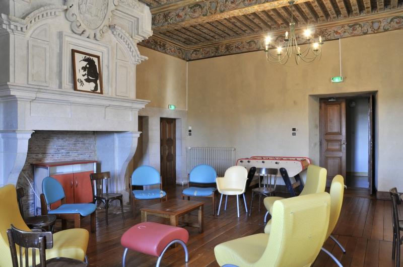 salon des Pyrénées ou salle des maréchaux. Château d'Audaux