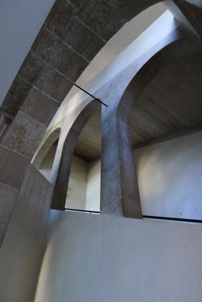 le grand escalier du château d'Audaux